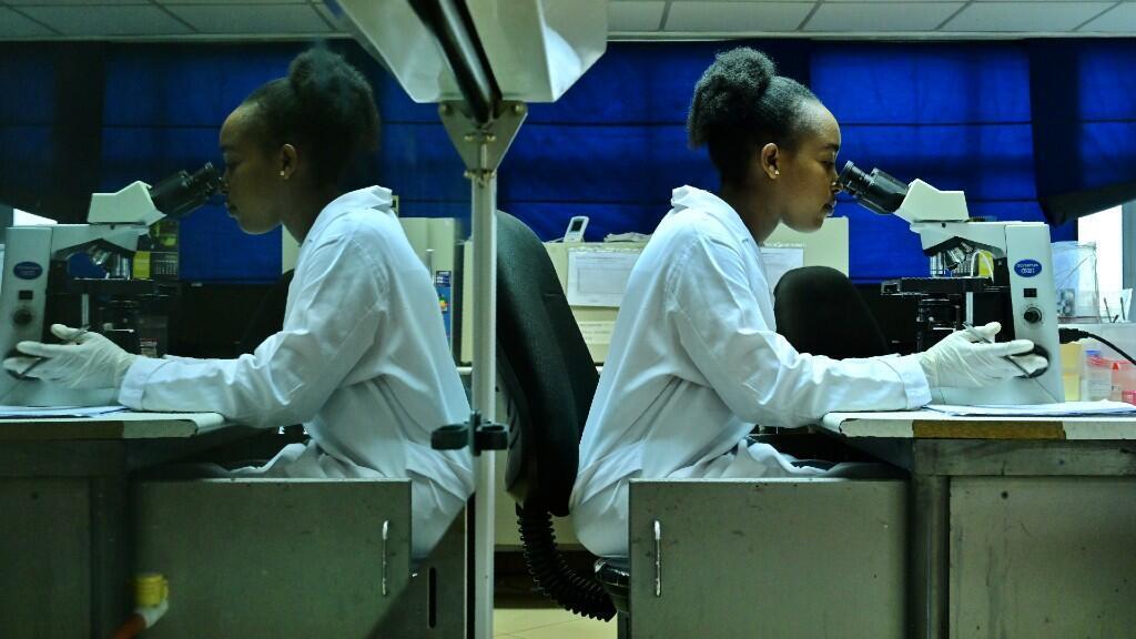 Una técnica analiza pruebas en el laboratorio Lancet, el único de la WADA en África oriental, en Nairobi, Kenia, el 7 de junio de 2019.