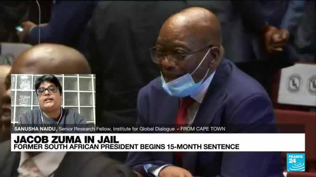 2021-07-08 14:38 South Africa's ex-president Zuma starts serving jail term for contempt
