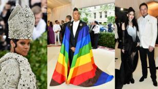 Rihanna, Lena Waithe, Grimes et Elon Musk au MET Gala 2018.