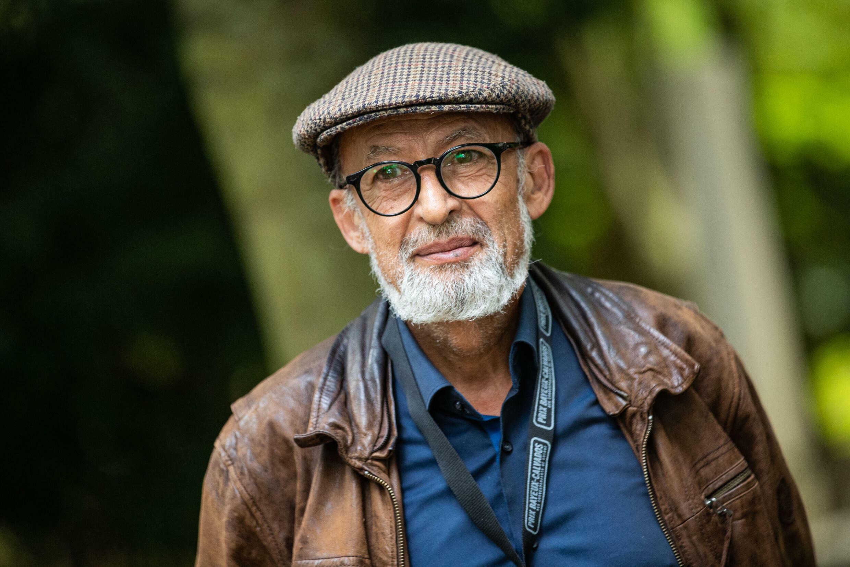 Le photojournaliste iranien Manoocher Deghati, président du jury de la 28e édition du prix Bayeux Calvados-Normandie, le 7 octobre 2021 à Bayeux, en France