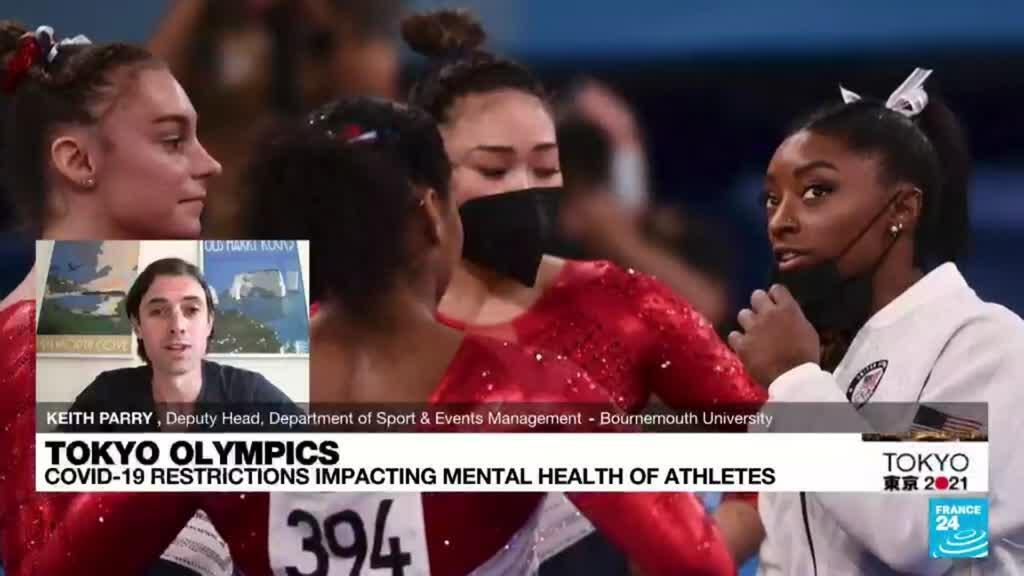 2021-07-28 20:10 Simone Biles prioritizes mental health over Olympic gymnastics competition