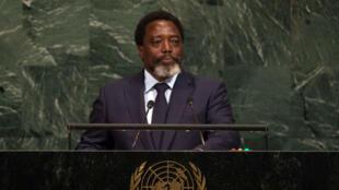 Le président de la RD Congo Joseph Kabila à la tribune des Nations unies, le 23 septembre 2017, à New York.