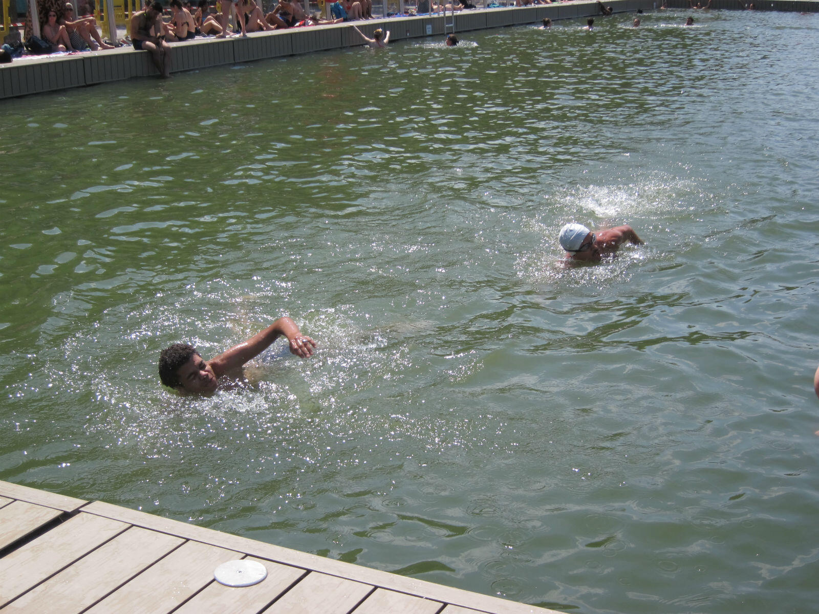 """""""La Baignade"""" is a first for Paris, where swimming in the Seine has been banned for almost a century because the water is too dirty."""