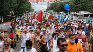 The running demonstrations in Russia's Far East have been some of the largest anti-government protests in years