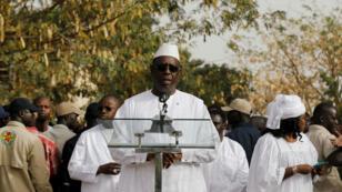 Le président sénégalais Macky Sall lors du scrutin du 24février2019, à Fatick.