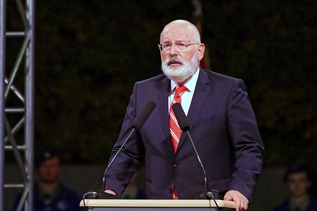 Frans Timmermans durante una ceremonia que conmemora el 80 aniversario del estallido de la Segunda Guerra Mundial, en Polonia el primero de septiembre de 2019.