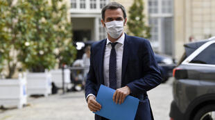 The Minister for Health Olivier Veran attends a meeting in Paris, July 17 2020.