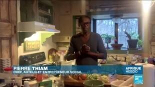"""2020-05-02 14:21 Le tuto : le chef Pierre Thiam dévoile les secrets de sa """"sauce feuilles au fonio"""""""