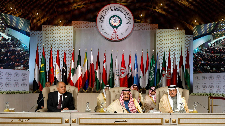 Foto de algunos de los integrantes de la Liga Árabe en Túnez, el 31 de marzo de 2019.