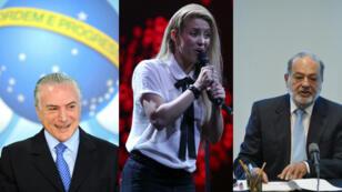 Michel Temer, Shakira et Carlos Slim sont trois représentants de la diaspora libanaise en Amérique latine.