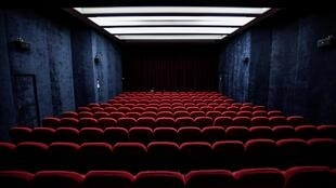 An empty screening room at the Saint-André-des-Arts cinema in Paris, as the country is under lockdown to stop the spread of the Covid-19 pandemic.