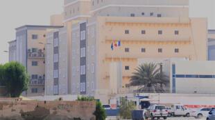 صورة عن بعد للقنصلية الفرنسية في جدة في 29 تشرين الأول/أكتوبر 2020