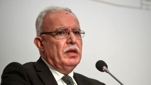 وزير الخارجية الفلسطيني رياض المالكي في صورة ملتقطة في 1 آب/أغسطس 2017 في إسطنبول خلال مؤتمر منظمة التعاون الإسلامي