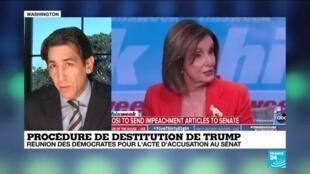 2020-01-14 15:00 Impeachment : Des preuves suffisamment concrètes pour mener Trump à la destitution selon Nancy Pelosi