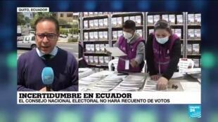2021-02-17 18:05 informe desde Quito: Incertidumbre y primeras protestas ante la negativa de un recuento de votos