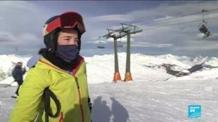 2020-12-15 11:12 Ski slopes open in Spain's Pyrenees despite pandemic