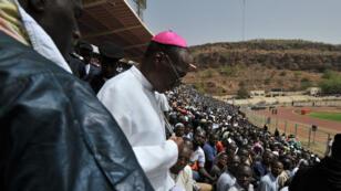 Le cardinal de Bamako Jean Zerbo, alors archevêque, le 31 mars 2012 à Bamako.