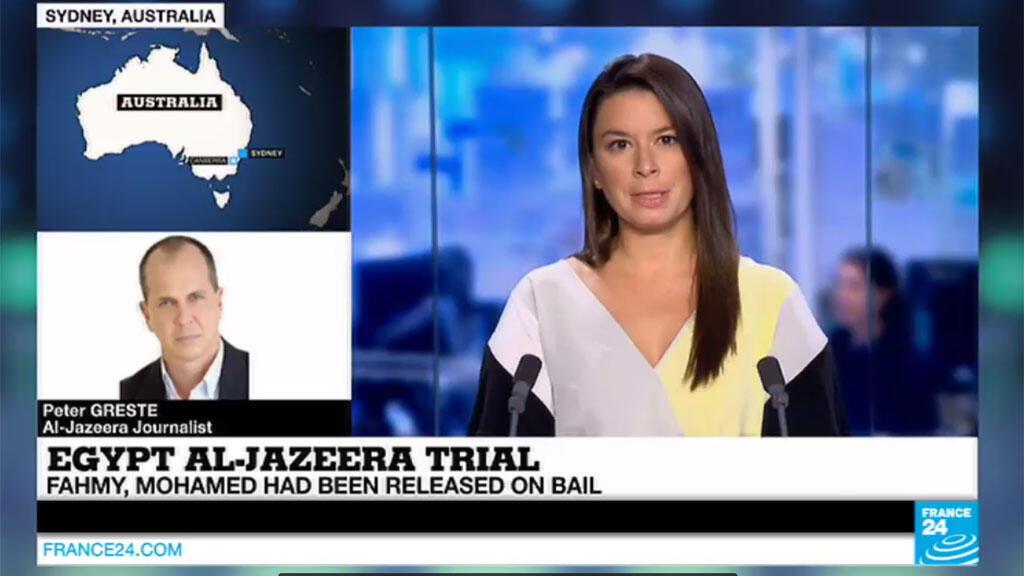 Le journaliste australien Peter Greste a réagi sur l'antenne de France 24 à sa condamnation à trois ans de prison par la justice égyptienne.