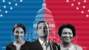 Los estados más competidos entre demócratas y republicanos para el Senado, Cámara y gobernaciones se encuentran en algunos como Texas, Nueva York o Arizona.