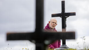 Father Laurence Flynn has been holding vigil at Lough Derg since lockdown began