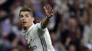 Cristiano Ronaldo, auteur d'un triplé face à l'Atletico Madrid.
