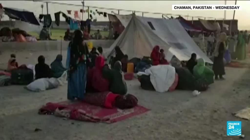 2021-09-02 11:04 Afghan families flee the Taliban into Pakistan: 'We have come here because of misery and poverty'
