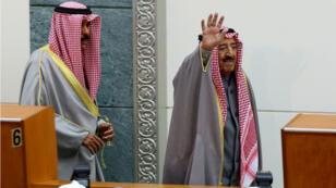 L'émir du Koweït, Cheikh Sabah al-Ahmad al-Djaber al-Sabah, au Parlement de Koweït City en décembre 2016.