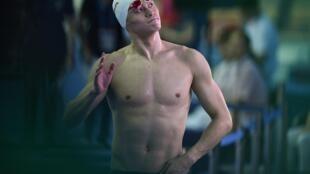Le nageur chinois Sun Yang lors de la finale du 800m nage libre aux mondiaux de Gwangju, en Corée du Sud le 24 juillet 2019