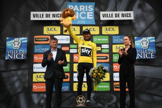 Egan Bernal en jaune sur Paris-Nice. Prémonitoire pour le Tour de France 2019 ?