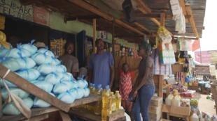 Le marché dans le quartier PK5 à Bangui en Centrafrique.