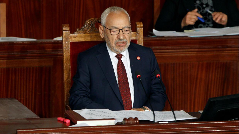 Le chef du parti islamiste Rached Ghannouchi élu à la tête du Parlement tunisien