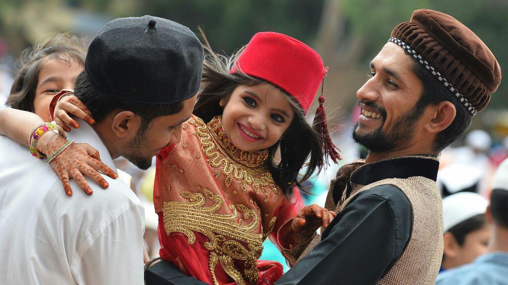 Une jeune indienne musulmane lors de l'Aïd-el-fitr, le 7 juillet 2016 à Bangalore.
