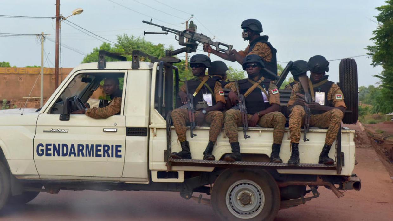 عناصر في جيش بوركينا فاسو بشمال البلاد، في 30 أكتوبر/تشرين الأول 2018. أ ف ب / أرشيف
