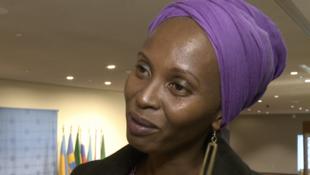 Carine Kaneza, porte-parole du mouvement des femmes et des filles pour la paix et la sécurité au Burundi.