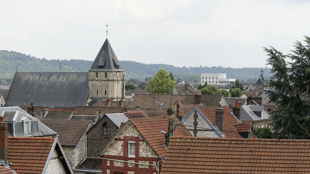Clocher de l'église de Saint-Étienne-du-Rouvray.