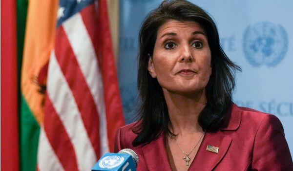L'ex-ambassadrice américaine à l'Onu, Nikki Haley, au siège des Nations-Unies à New York, le 20 septembre 2018.