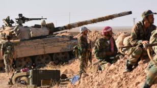 Les forces pro-gouvernementales dans la province de Deir Ezzoz, le 9 septembre 2017.