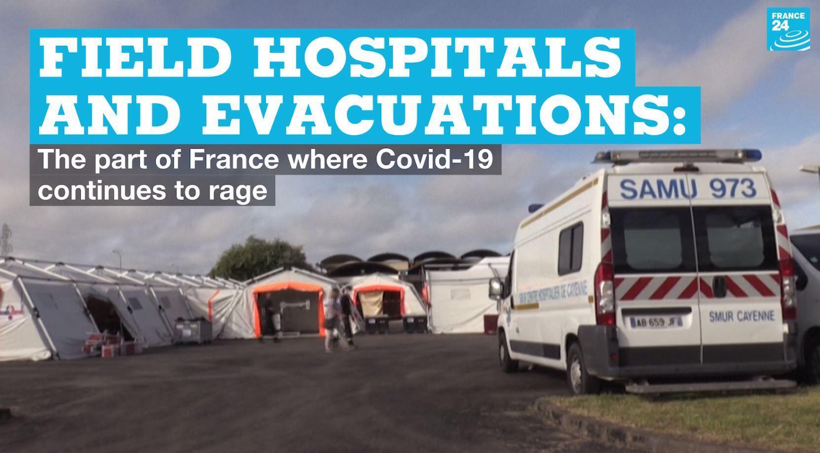 A field hospital in French Guiana.