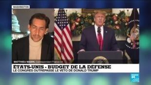 2020-12-29 06:10 Budget de la Défense : Le congrès outrepasse le veto de Donald Trump