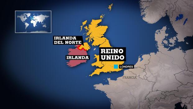 Frontera entre Irlanda del Norte y la República de Irlanda.