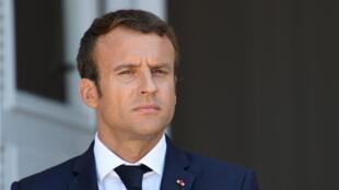 Emmanuel Macron photographié le 25 août 2017 en Bulgarie