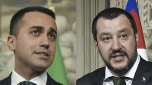 Les chefs de file des deux formations, Luigi Di Maio (M5S) et Matteo Salvini (Ligue).