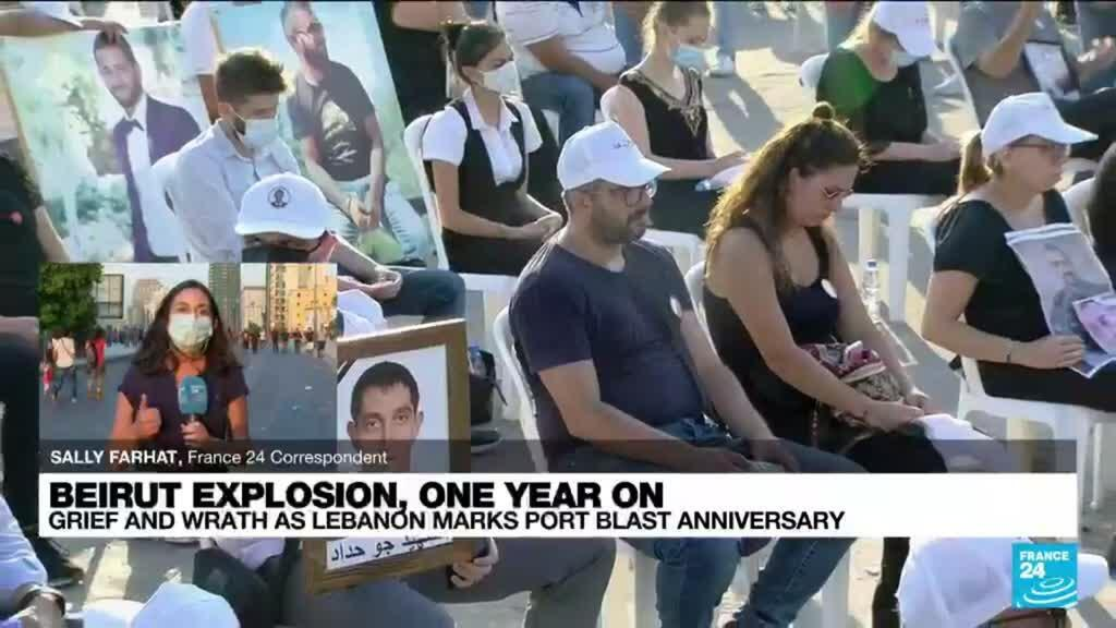 2021-08-04 18:05 Thousands of grief-stricken Lebanese march one year after Beirut port explosion