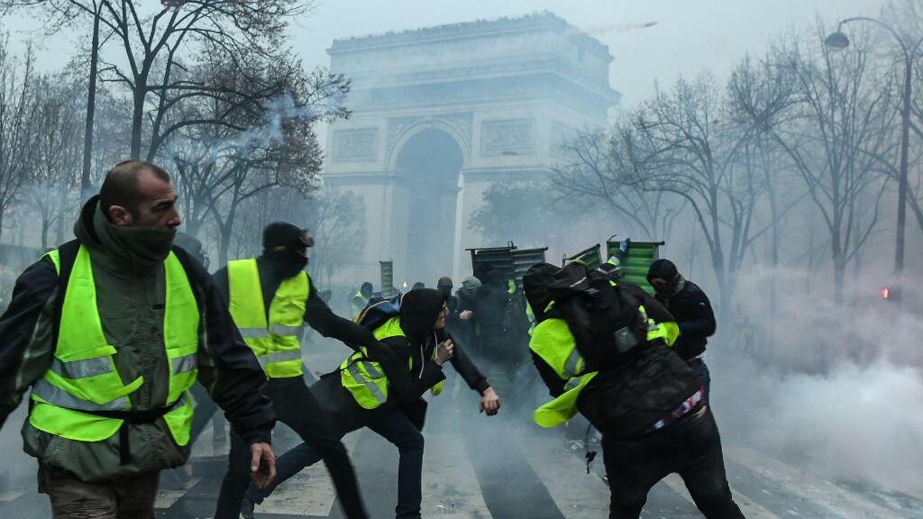 "Les violences en marge des manifestations des ""gilets jaunes""."