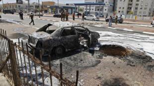 مدينة عسقلان بجنوب اسرائيل بعد إطلاق صوارخ من قطاع غزة في 11 أيار/مايو 2021
