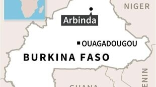 Map locating the district of Arbinda in Burkina Faso, the target of an attack on Sunday