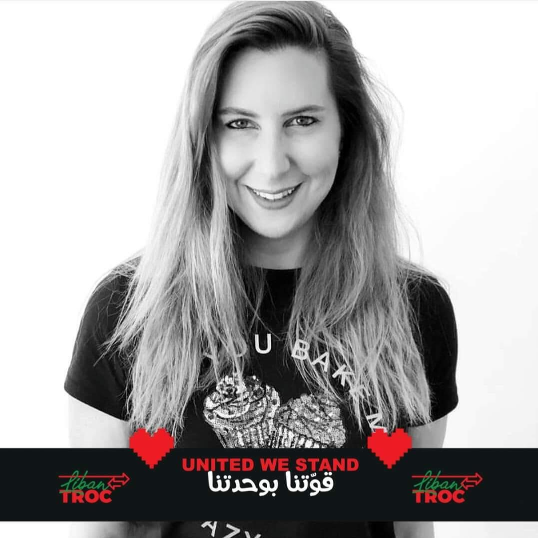 "Hala Dahrouge, 42, founded LibanTroc, an online bartering platform to encourage ""solidarity among Lebanese"" in December 2019."