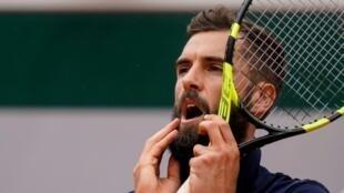 Le Français Benoît Paire lors du 4e tour de Roland-Garros le 3 juin 2019
