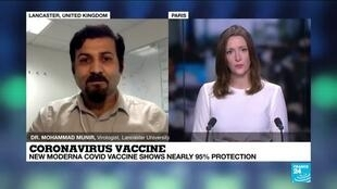 2020-11-16 16:01 Coronavirus vaccine : New Moderna Covid vaccine shows nearly 95% protection