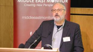 El periodista Jamal Khashoggi en un evento en Londres, Reino Unido, el 29 de septiembre de 2018.